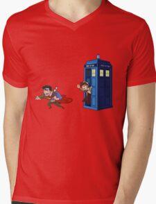 Wrong Phonebooth Mens V-Neck T-Shirt