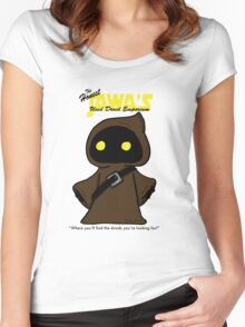 Honest Jawa's Used Droids Emporium Women's Fitted Scoop T-Shirt