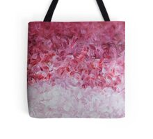 go back to the world - pink abstract Tote Bag