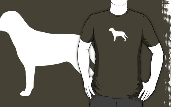 Greater Swiss Mountain Dog Silhouette (White) by Jenn Inashvili