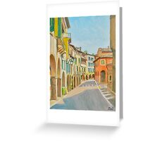 Via Browning in historic Asolo, Veneto, Italy Greeting Card