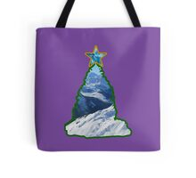 Christmas Tree Snow Scene Tote Bag