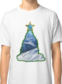 Christmas Tree Snow Scene Classic T-Shirt