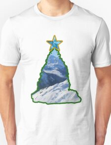 Christmas Tree Snow Scene Unisex T-Shirt