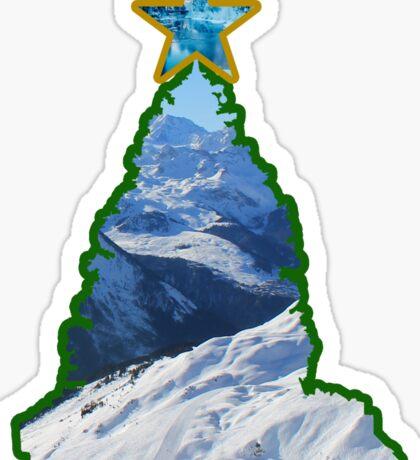 Christmas Tree Snow Scene Sticker