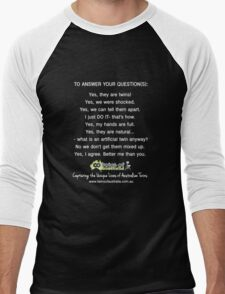 To Answer Your Questions Men's Baseball ¾ T-Shirt