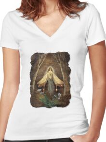Fey Queen (Fairy Queen) Women's Fitted V-Neck T-Shirt