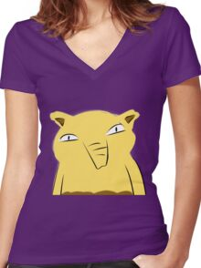 Badly-drawn Drowzee Women's Fitted V-Neck T-Shirt
