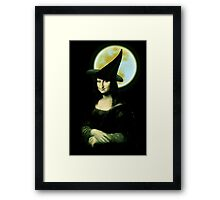Mona Lisa...Witchy Woman Framed Print