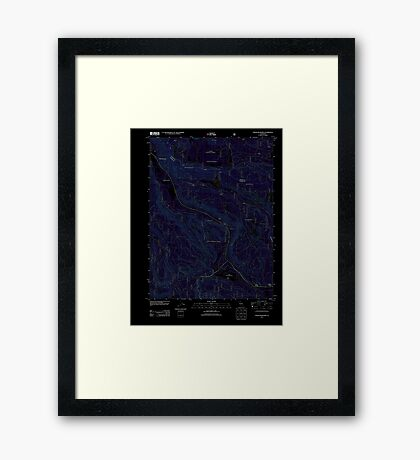 USGS TOPO Map California CA Childs Meadows 20120404 TM geo Inverted Framed Print