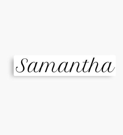 Samantha Canvas Print