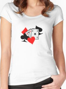 Poker signs cards Women's Fitted Scoop T-Shirt