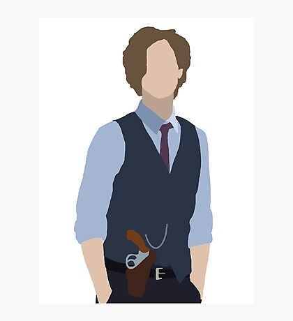 Dr. Spencer Reid Silhouette Photographic Print