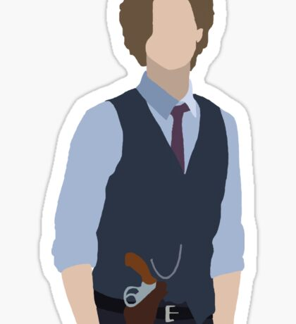 dr. spencer reid silhouette Sticker