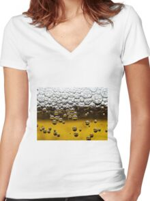 Beer close up Women's Fitted V-Neck T-Shirt