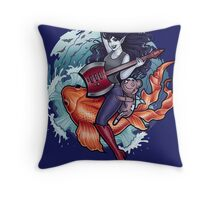 Daddy's Little Monster Throw Pillow