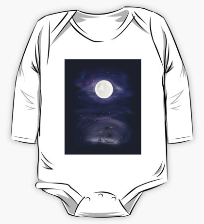 A ride to the Moon  One Piece - Long Sleeve