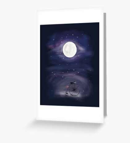 A ride to the Moon  Greeting Card