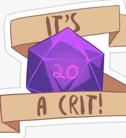 It's a Crit!! Purple Sticker