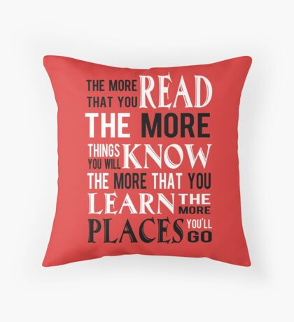 Dr Suess The Places You'll Go Throw Pillow