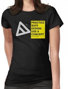 PRACTICE SAFE DESIGN Womens Fitted T-Shirt