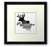 moony padfoot prongs & wormtail Framed Print
