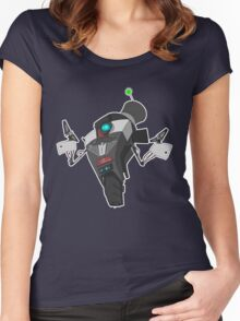 Fancy Claptrap Sticker Women's Fitted Scoop T-Shirt