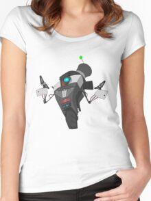 Fancy Claptrap Sticker Women's Fitted Scoop T-Shirt