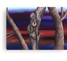 Run From The Grumpy Tree Canvas Print