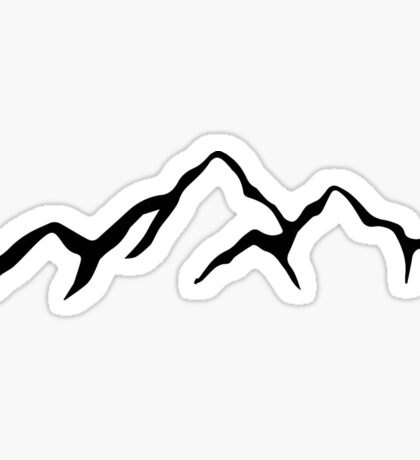 Mountains  Sticker