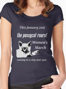 Pussycat Roars (Womens March) Women's Fitted Scoop T-Shirt