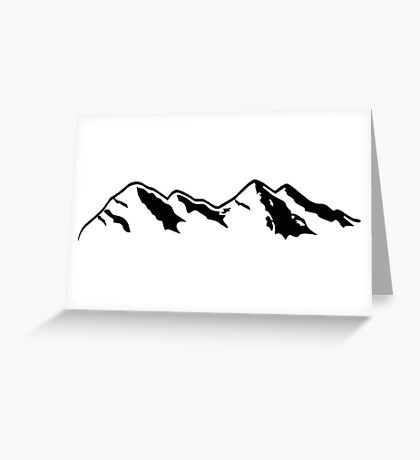 Mountains 2 Greeting Card