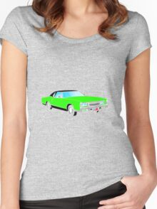 American Car - GREEN Women's Fitted Scoop T-Shirt