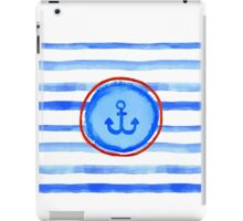 Stripes and anchor. iPad Case/Skin