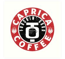 Caprica Coffee Art Print
