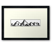 Mountains 3 Framed Print