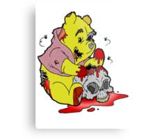 Zombie Pooh Metal Print