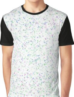 Green, Blue, & Purple Speckles Graphic T-Shirt