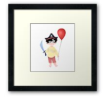 Baby Pirate Holmes Framed Print