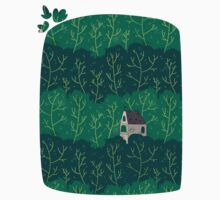 House in a forest. Kids Clothes