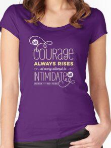"Jane Austen: ""My Courage Always Rises"" Women's Fitted Scoop T-Shirt"