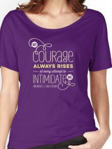 "Jane Austen: ""My Courage Always Rises"" Women's Relaxed Fit T-Shirt"