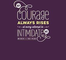 "Jane Austen: ""My Courage Always Rises"" Womens Fitted T-Shirt"