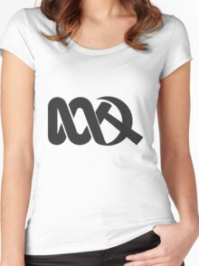 Red ABC Women's Fitted Scoop T-Shirt