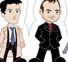 Sam, Dean, Castiel, Crowley Sticker