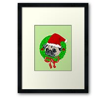 Christmas Pug Framed Print