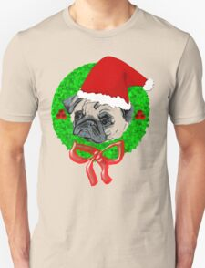 Christmas Pug Unisex T-Shirt