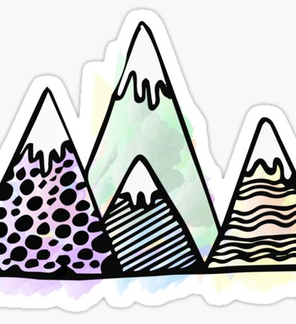 Colorful Mountains  Sticker