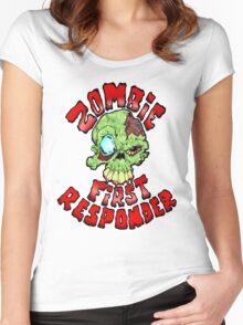 Zombie First Responder Volunteer Women's Fitted Scoop T-Shirt