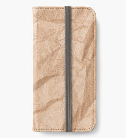 crumpled paper iPhone Wallet/Case/Skin